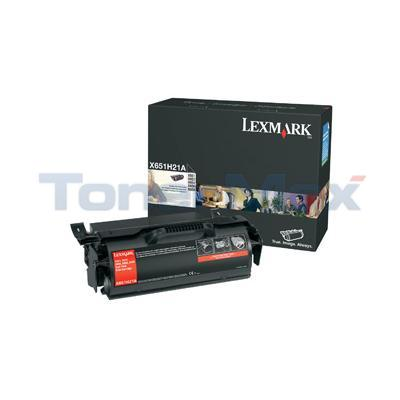 LEXMARK X651 X652 TONER CARTRIDGE 25K